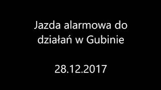 OSP Bytnica alarmowo do zawalonego budynku fabryki w miejscowości Gubin.