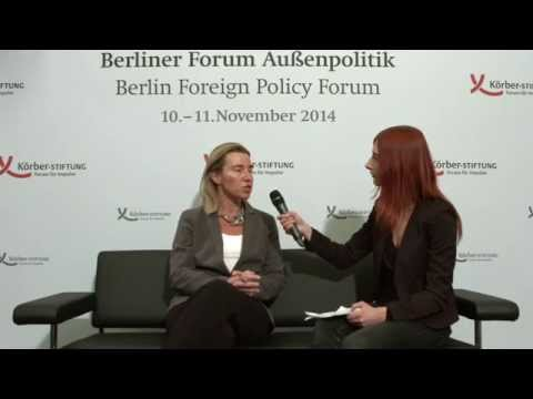 Interview with Federica Mogherini at the Berlin Foreign Policy Forum 2014