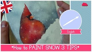Tutorial: Watercolor for Beginners - 3 TIPS how to Paint Snow (Lesson 23)