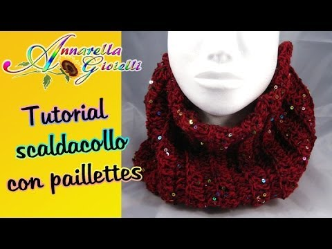 Youtube Crocheting Scarves : ... con paillettes alluncinetto How to crochet a scarf - YouTube