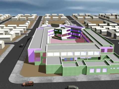 Imagen 3d escuelas laura robles silva youtube for Como hacer planos en 3d