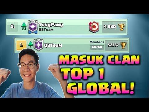 MASUK CLAN TOP 1 GLOBAL + TEMBUS TOP 9 LOCAL - Clash Royale Indonesia