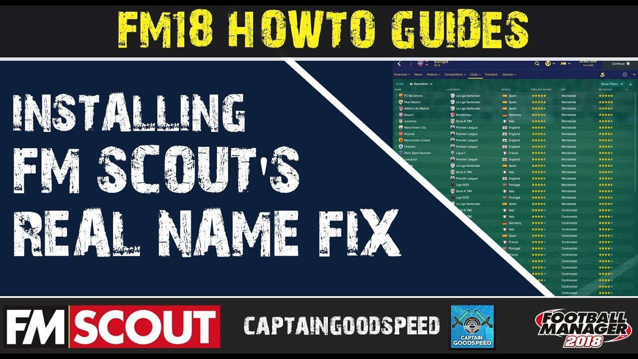 FM18 How-to Guide | How to Install FM Scout's Real Name Fix (Windows 10) |  Football Manager 2018