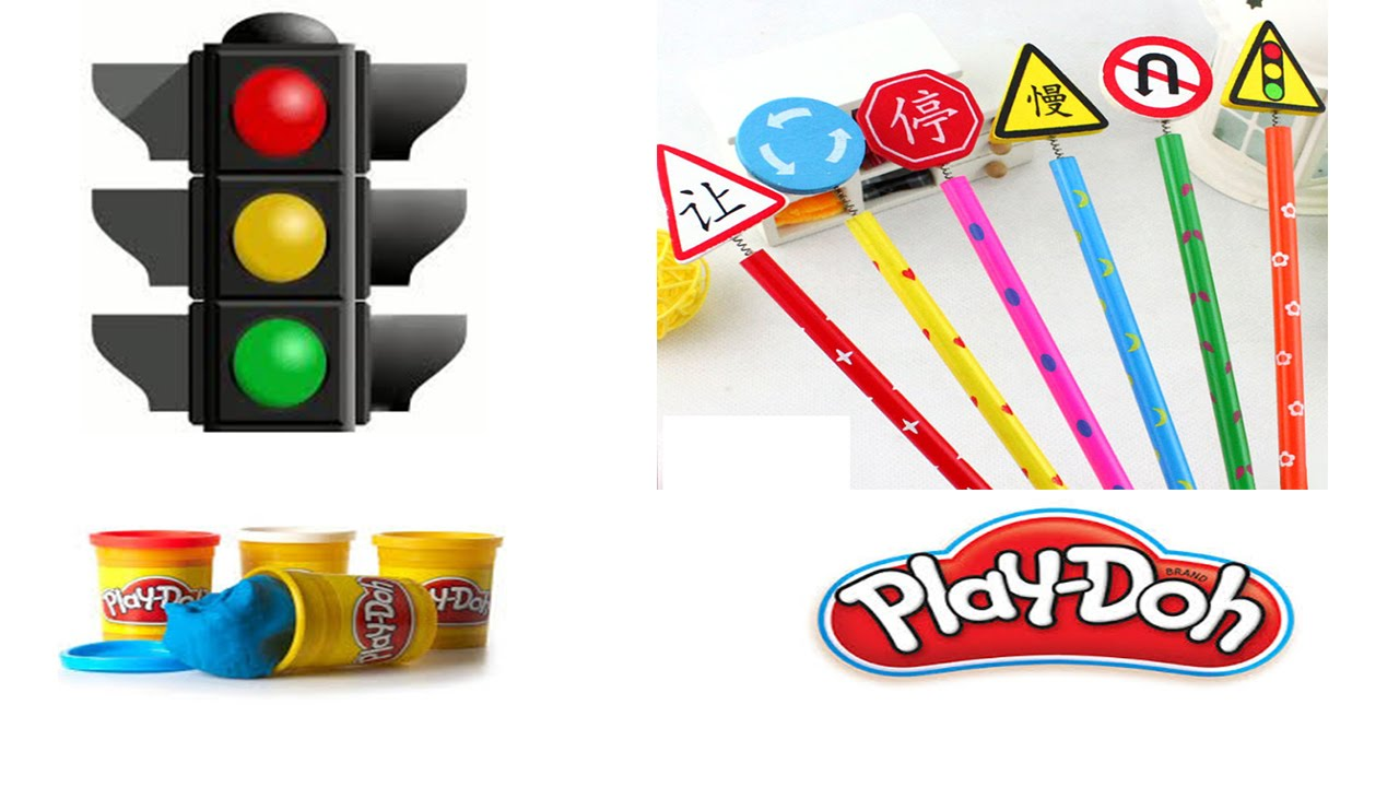 playdoh how to make traffic signs symbols youtube