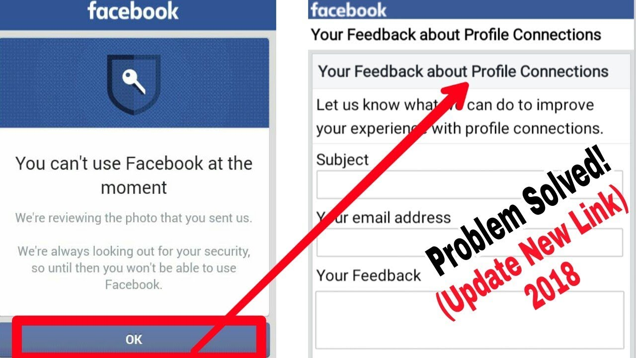 Solved You cant use Facebook at the moment  Quick Unlock