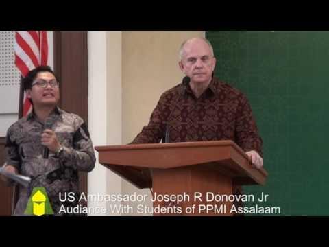 United States Ambassador Joseph R Donovan Jr