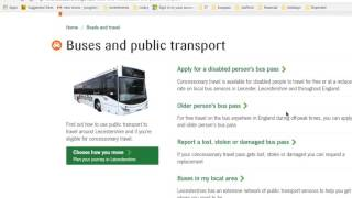 Getting a Bus Pass in the UK