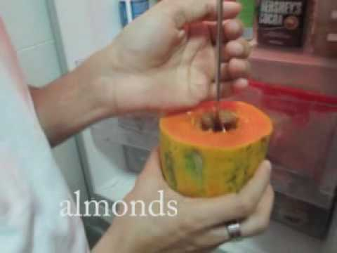 Raw Diet - Papaya Breakfast