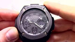 Годинник Casio G-SHOCK GST-S110BD-1B Інструкція, як налаштувати від PresidentWatches.Ru