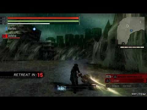(PSP)Gods Eater Burst Gameplay