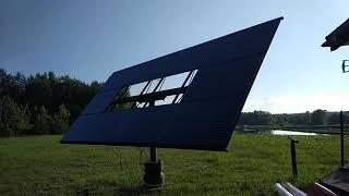 Fotowoltaika , prosty tracker własnej konstrukcji 1590W - 2,3MWh rocznie !!!