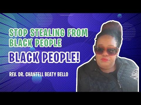 Stop Stealing from Black People - Black People!