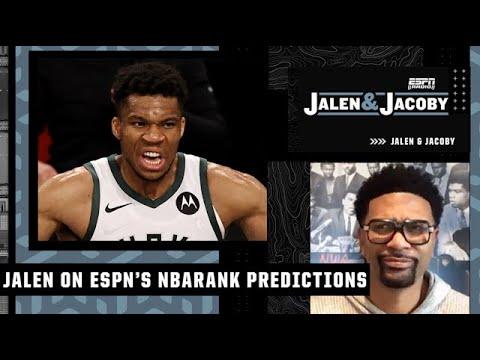 Giannis should be No. 1! - Jalen on ESPN's NBArank predictions   Jalen & Jacoby YouTube exclusive