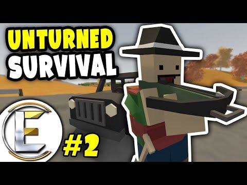 EPIC CAR | Unturned Survival Series #2 - NEW TEAM Driving in our new car