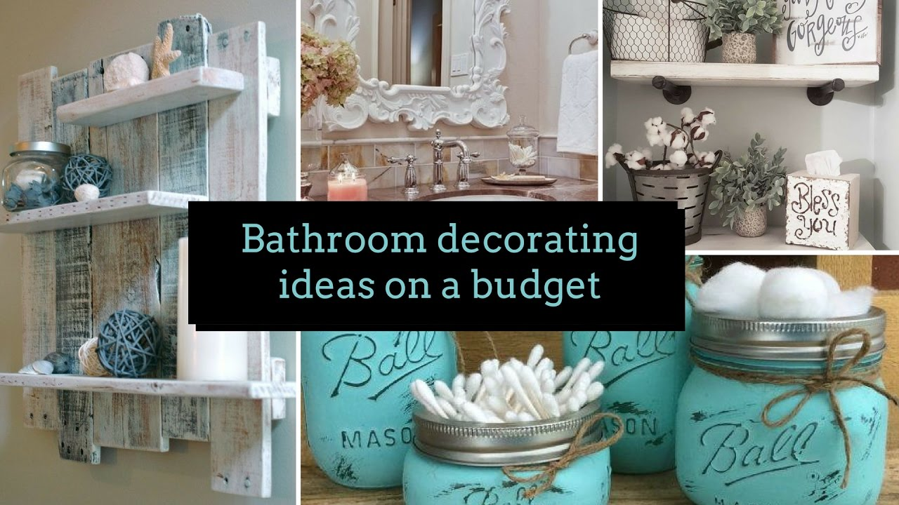 Diy bathroom decorating ideas on a budget home decor for Cheap decorating bathroom ideas