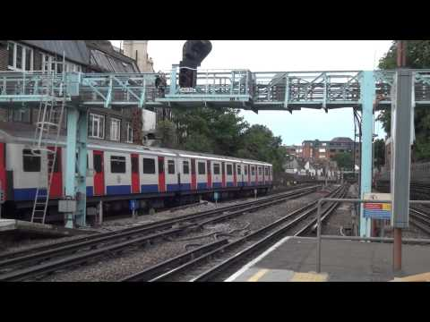 London Underground observations - 5 minutes at Barons Court uncut HD
