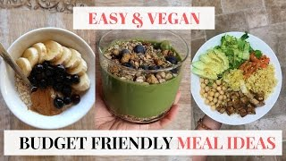 What I Eat In a Day at Home + Budget Friendly VEGAN Recipes