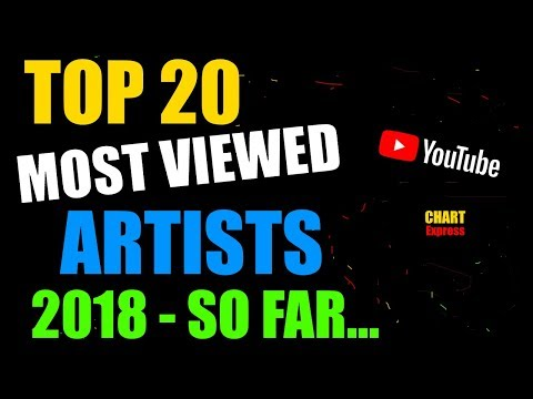 Top 20 Most Viewed Artists 2018 - So Far...   YouTube   April 2018   Chartexpress