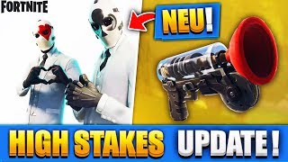 WIR TESTEN DAS NEUE XXL HIGH STAKES UPDATE!! | NEUER GRAPPLER + MODUS - Fortnite Battle Royale
