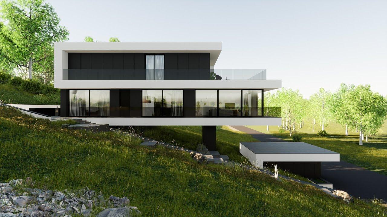 Hegyoldali családi ház