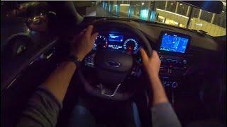 Ford Focus MK4 Night   4K POV Test Drive #128 Joe Black