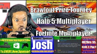 Nintendo Switch & Xbox One Gaming With Sponsors! Brawlout! Halo 5! Fortnite! 4K Video