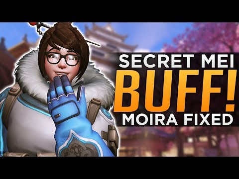 Overwatch: The SECRET Mei BUFF! - Moira Fade FIXED!