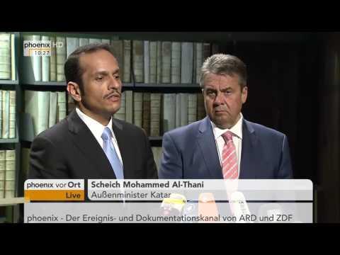 Deutschland und Katar: PK mit Sigmar Gabriel und Mohammed Al-Thani am 09.06.2017