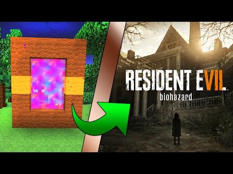 Minecraft COMO hacer un PORTAL a la DIMENSION de RESIDENT EVIL 7 | COMO HACER PORTAL RESIDENT EVIL