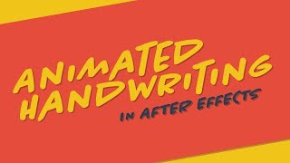 Animated Handwriting (Draw On Effect) | After Effects Tutorial
