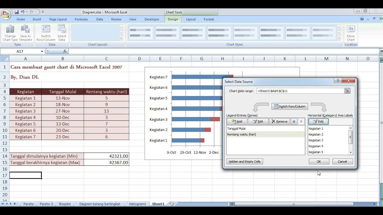 how to produce a gantt chart in excel 2010