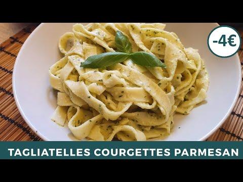 tagliatelles-courgettes-parmesan-|-sauce-crémeuse-|-recette-facile-et-originale