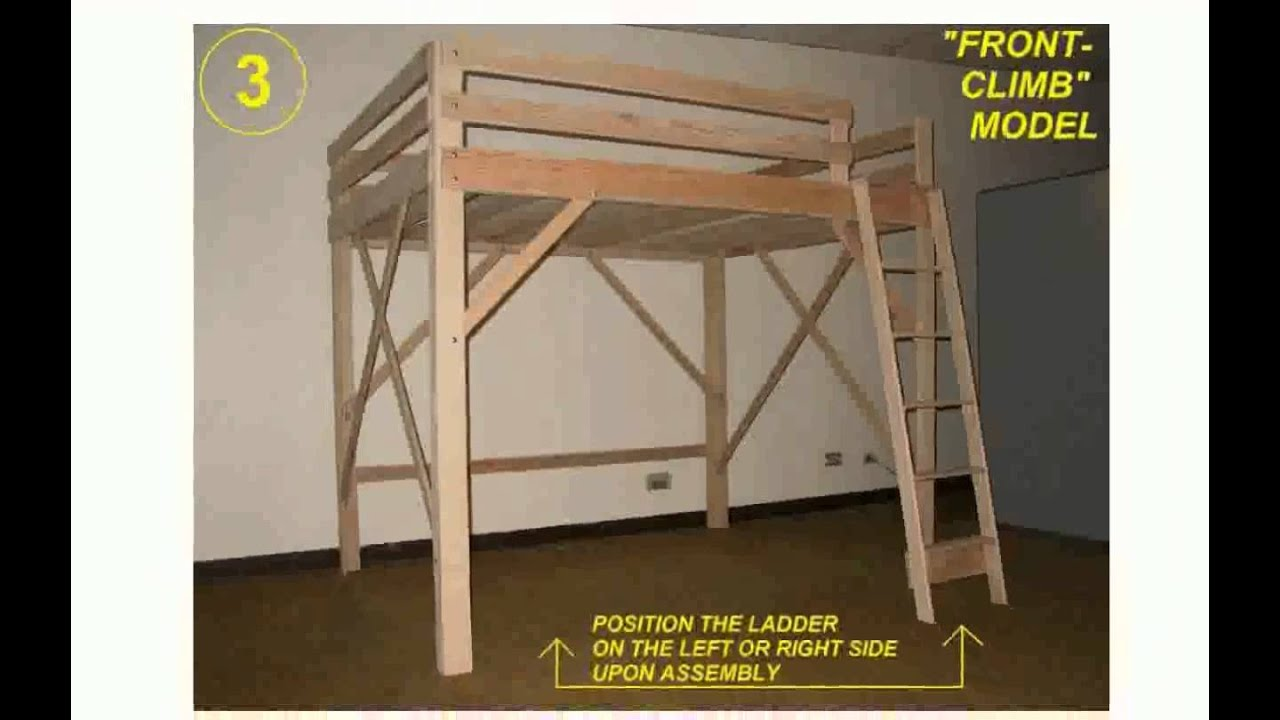 Loft Bed Frame - YouTube