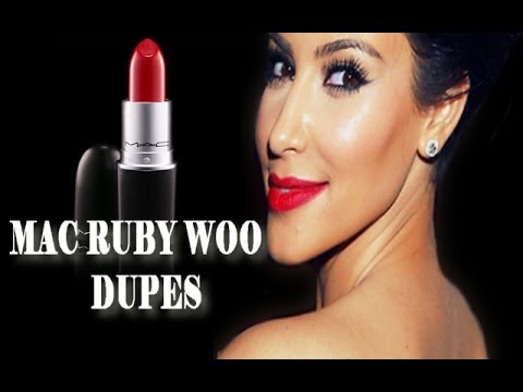 Affordable Mac Ruby Woo Dupes Lip Swatches Comparaison