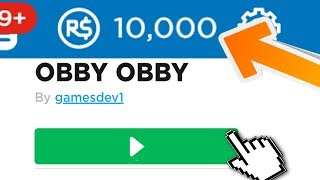 SECRET OBBY GIVES 10,000 FREE ROBUX (May 2019)