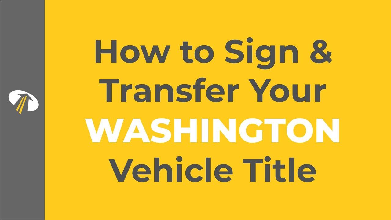 Washington Title Transfer - Donate a car in WA on Car