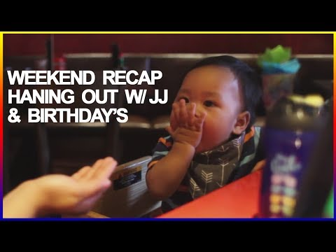 Teaching Baby How to Blow Kisses - Kuya's Birthday Celebration - Cafe 86, Weekend VLOG