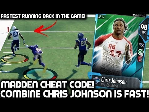 HE'S A MADDEN CHEAT CODE! CHRIS JOHNSON IS UNSTOPPABLE! Madden 18 Ultimate Team