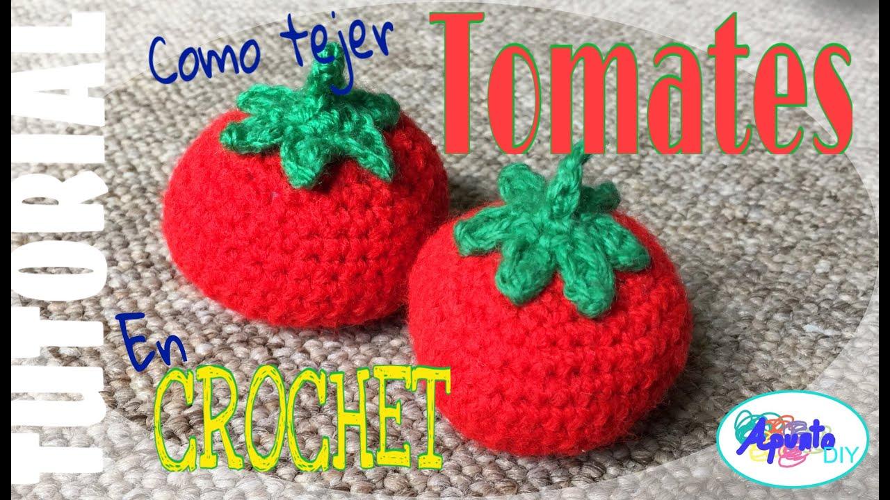 Como Tejer Tomates en Crochet - YouTube