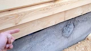 видео Закладка фундамента дома из бруса