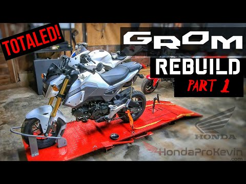 Rebuilding a Wrecked 2018 Honda Grom Motorcycle from Copart auction | Part 1