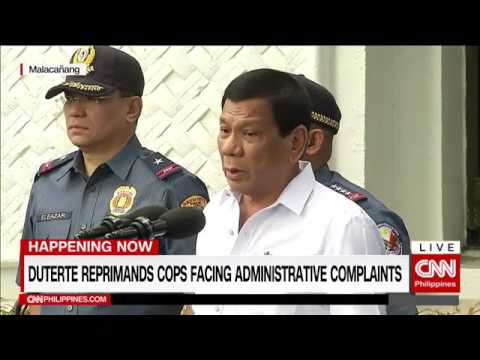 Duterte reprimands cops, orders them to clean Pasig River