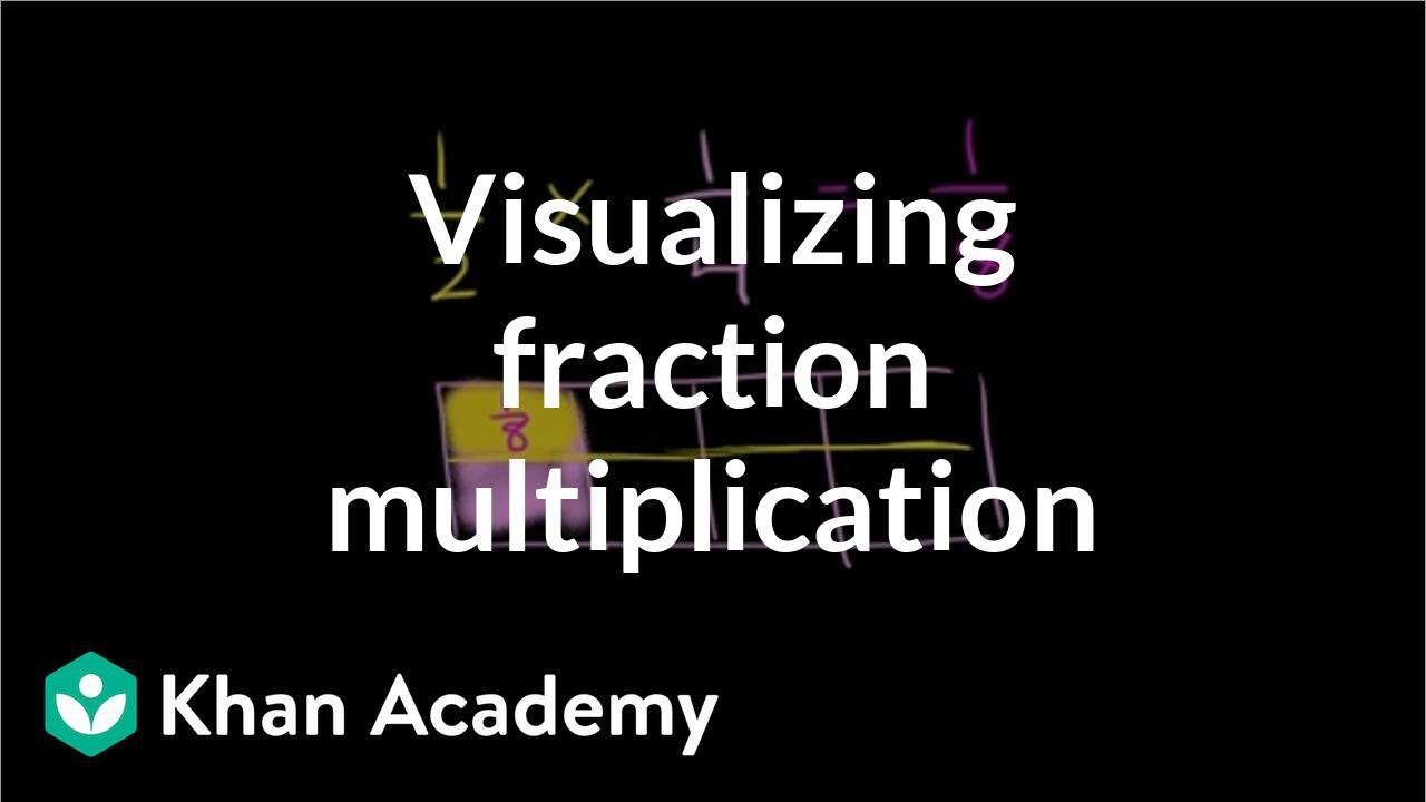 hight resolution of Multiplying fractions: visualizing   Fractions   5th grade   Khan Academy -  YouTube