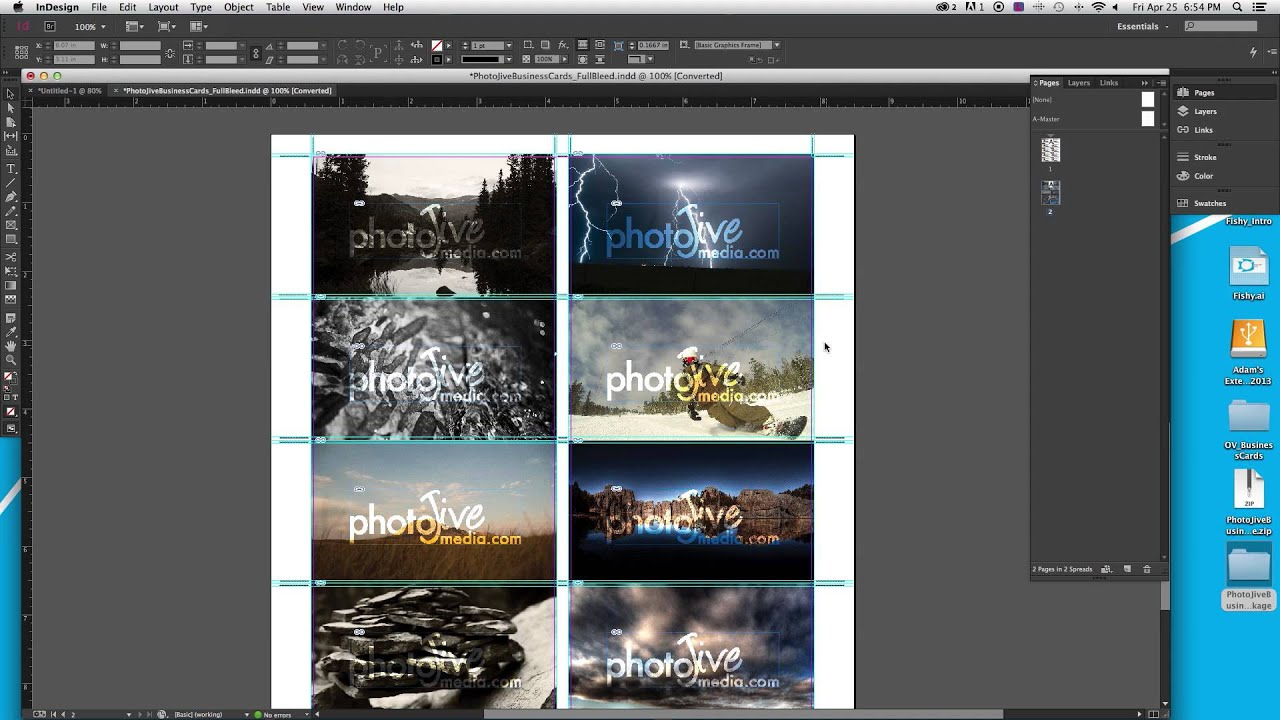 How to design a business card adobe indesign part 1 of 3 youtube colourmoves
