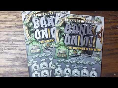 New $10 PA lottery scratch tickets.  BANK ON IT.  000 WINNER!!