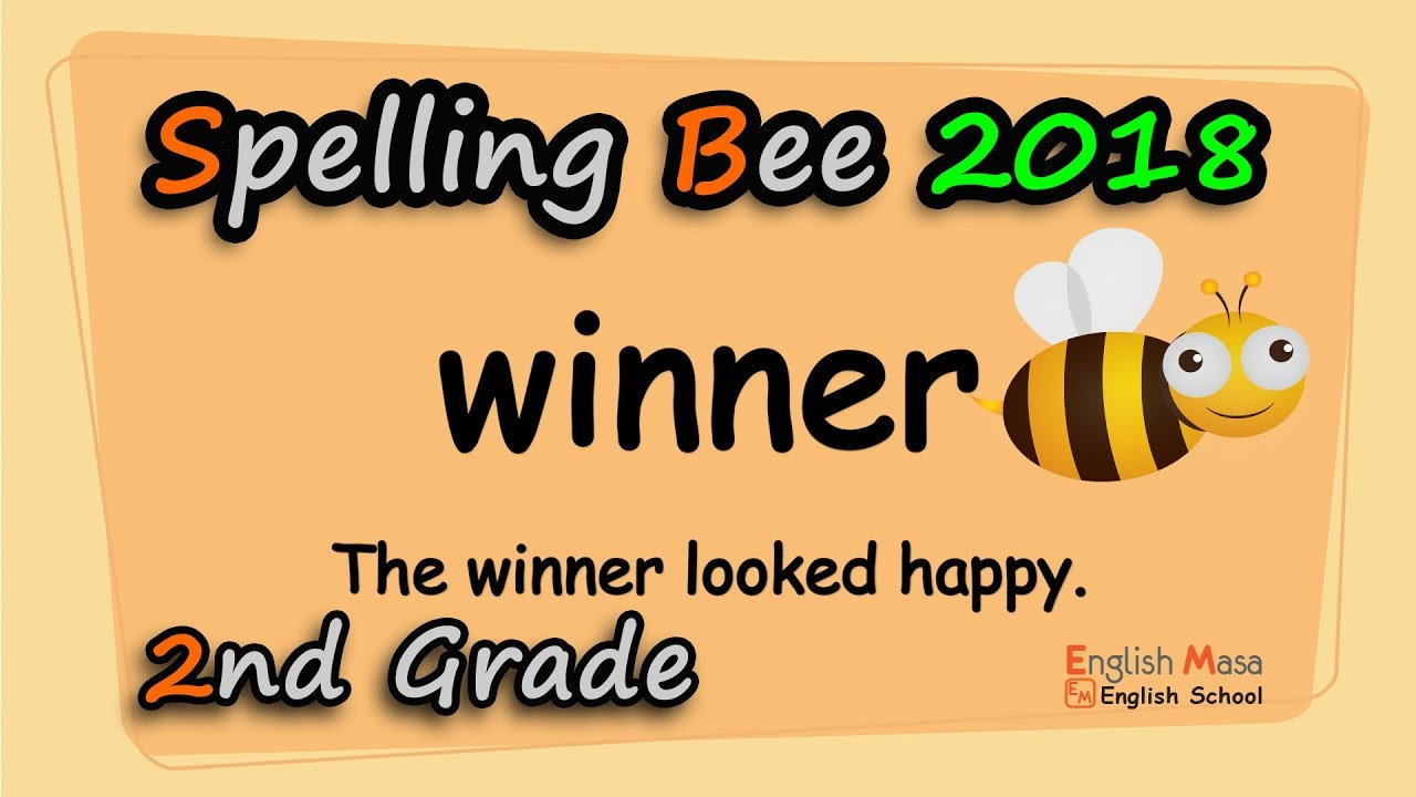 hight resolution of 2nd Grade Spelling Bee Training Video - YouTube