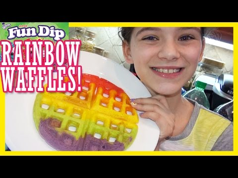 RAINBOW FUN DIP WAFFLES!!  |  KITTIESMAMA