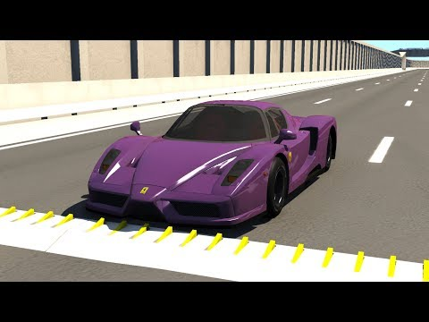 Spike Strip High Speed Testing #22 - BeamNG DRIVE