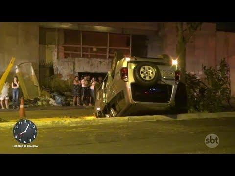 Motorista bêbado capota carro e mata amigo que estava de passageiro | Primeiro Impacto (06/03/18)
