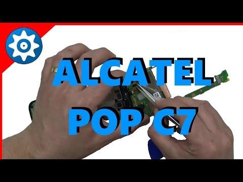 Troca de vidro touch do Alcatel Pop C7 OT 7040x 7041x passo a passo